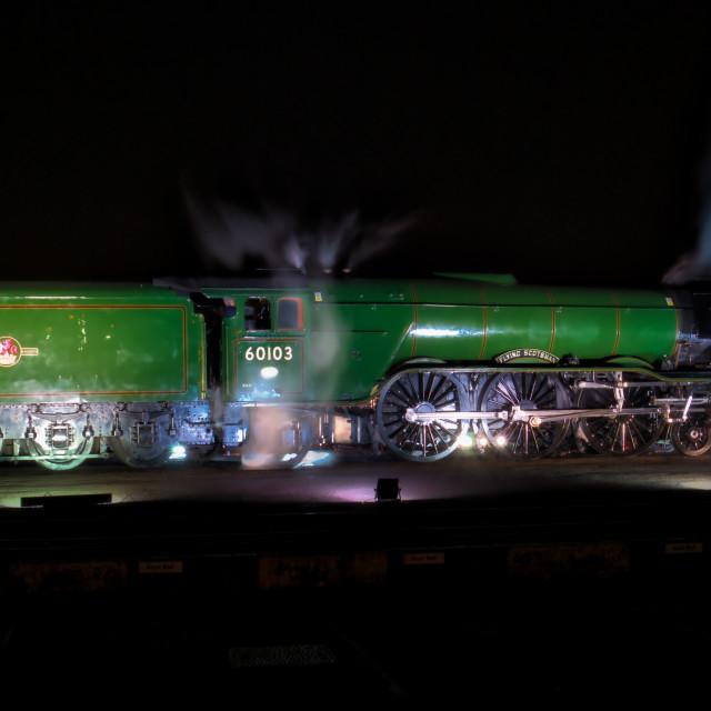 """Scotsman at night"" stock image"