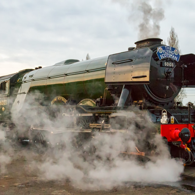"""The Flying Scotsman"" stock image"
