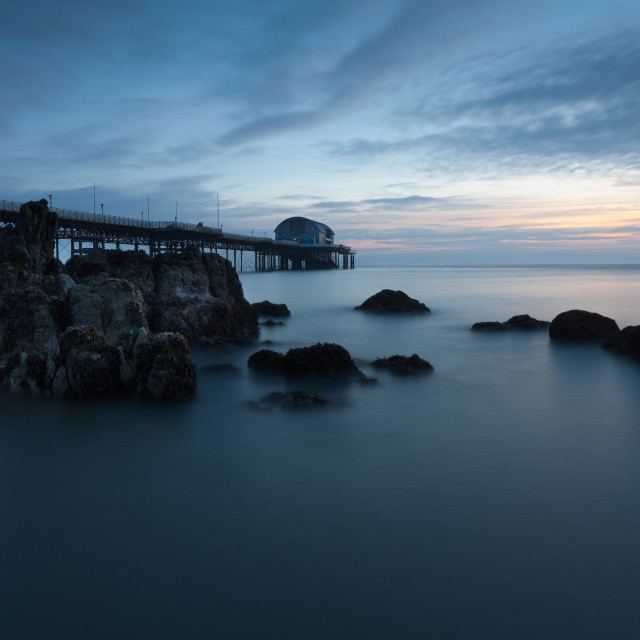 """Mumbles Pier Morning"" stock image"