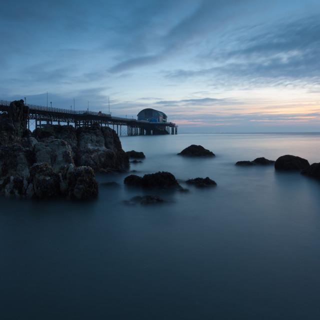 """Mumbles Pier Morning"" stock image"