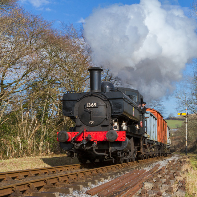 """GWR Pannier Tank"" stock image"
