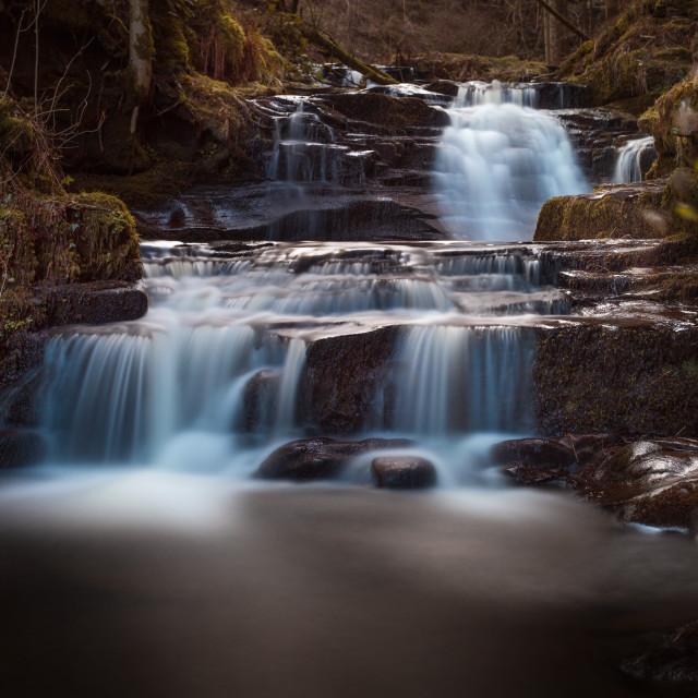 """""""Lower Blaen y Glyn Falls"""" stock image"""