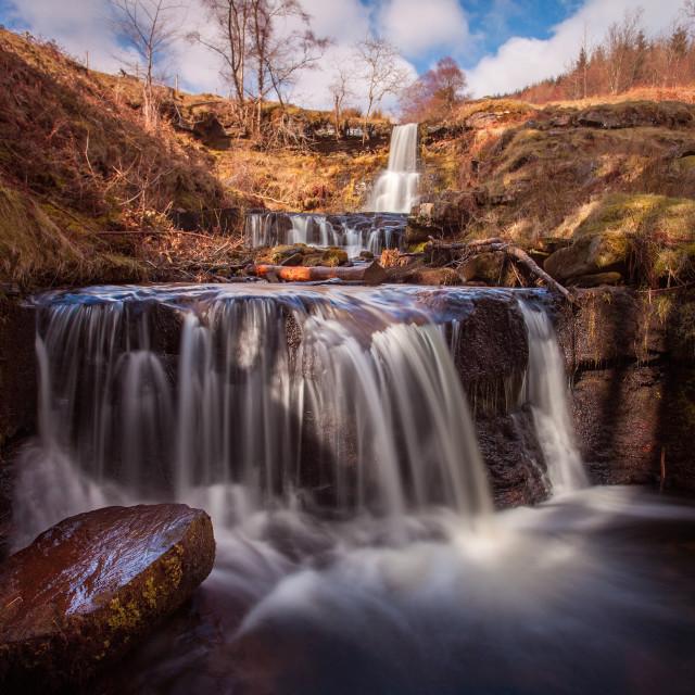 """""""Blaen y Glyn waterfalls"""" stock image"""