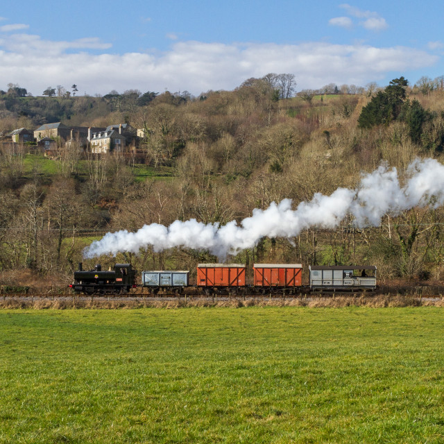 """Countryside steam"" stock image"