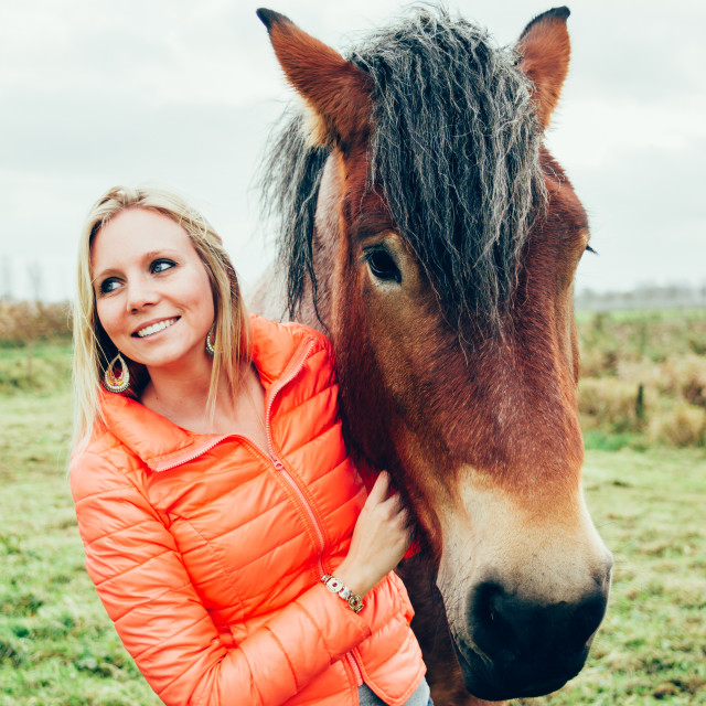 """Portrait With A Horse"" stock image"