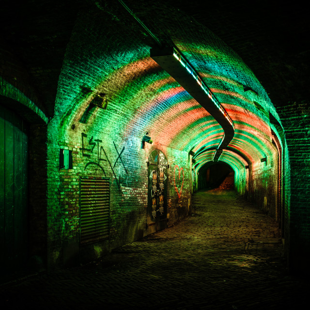 """Tunnel with light"" stock image"