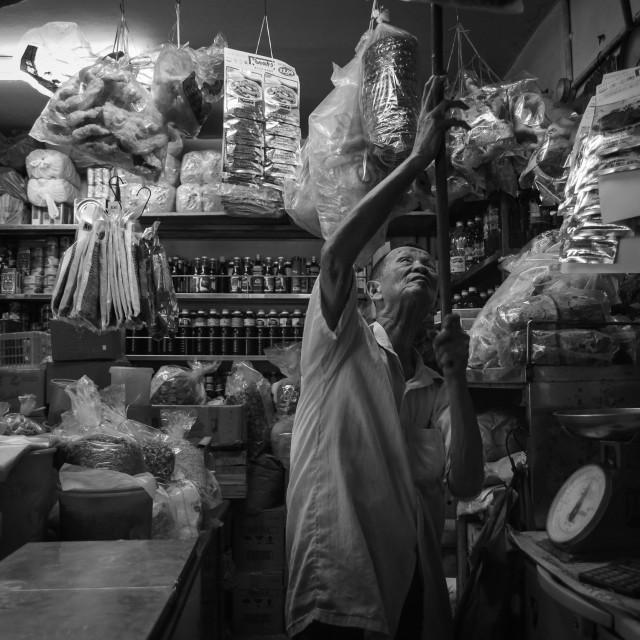 """Shopkeeper"" stock image"