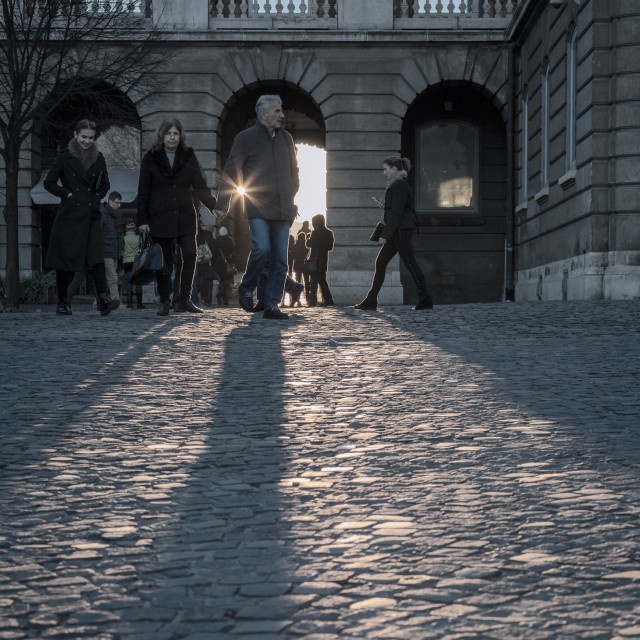 """Winter walk in Budapest"" stock image"