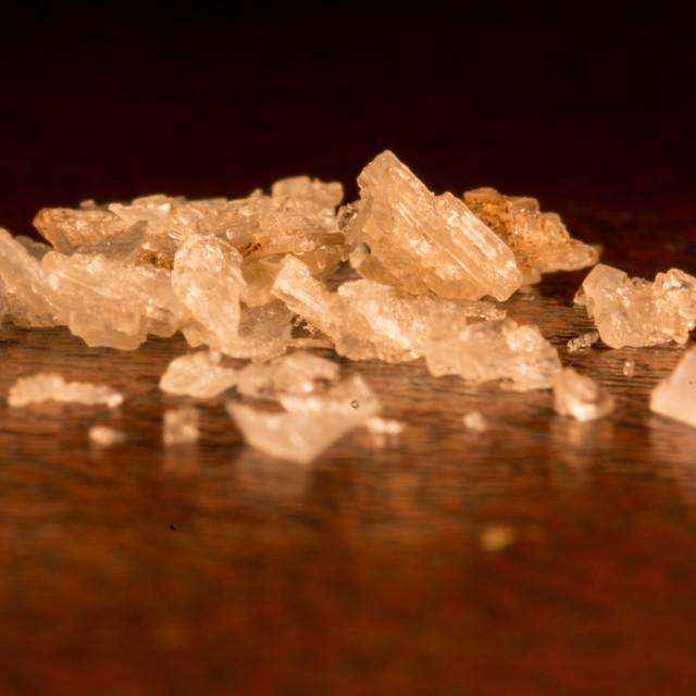 """""""Sea Salt Crystals"""" stock image"""