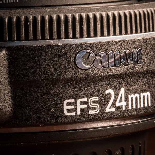"""""""Canon 24mm lens"""" stock image"""