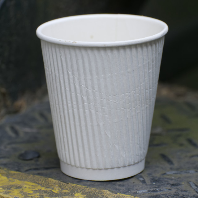 """Discarded White Paper Cup"" stock image"