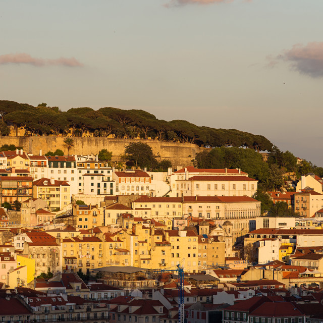"""Lisboa at sunset"" stock image"