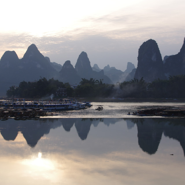 """Li river sunset"" stock image"