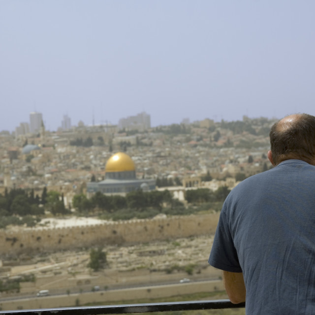 """""""Israel, Jerusalem, the dome of the rock"""" stock image"""