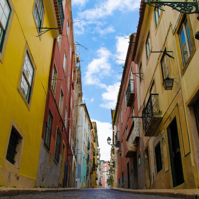 """Lisbon Street"" stock image"