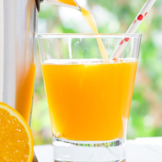 """""""Natural orange juice"""" stock image"""