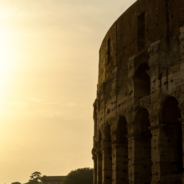 """""Roman Colosseum Sunset"""" stock image"