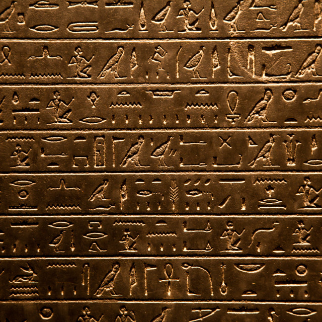 """Egyptian hieroglyphic"" stock image"