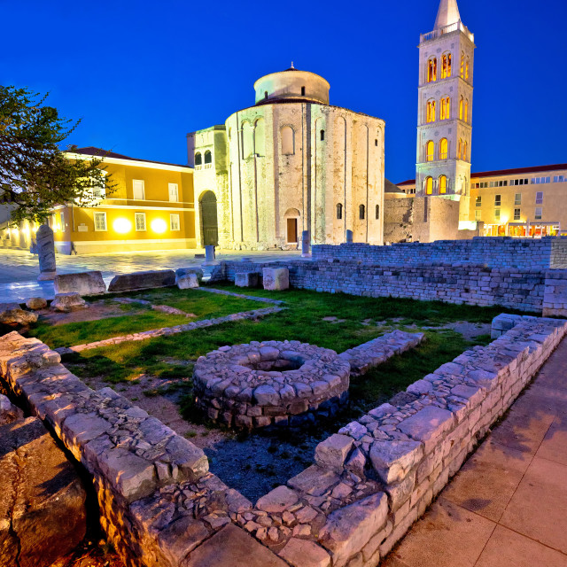 """""""Old Zadar church and artefacts"""" stock image"""