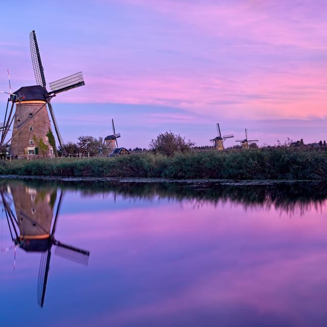 """Windmills At Kinderdijk"" stock image"