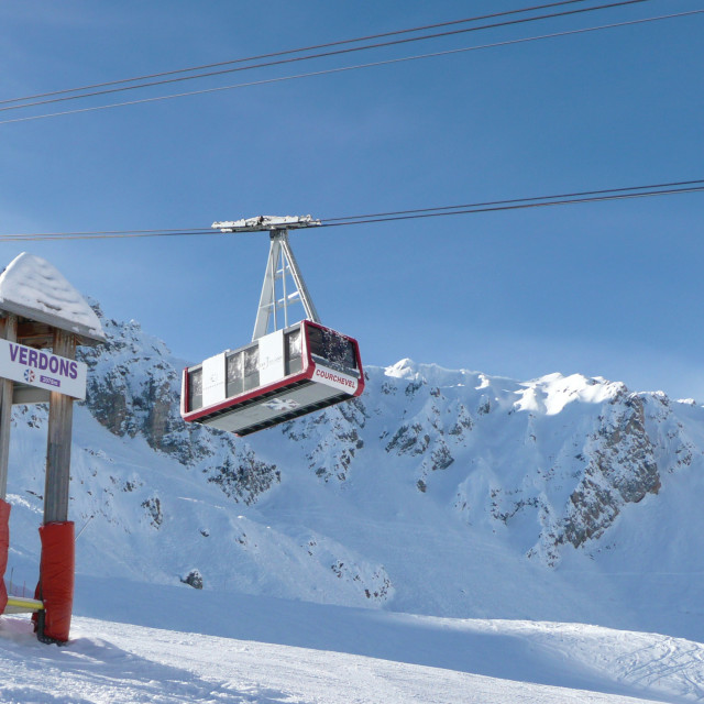 """Courchevel Cable Car"" stock image"