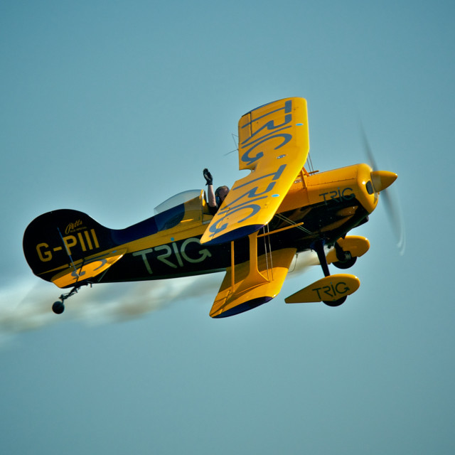 """Pitts S-1D Special Bi Plane"" stock image"