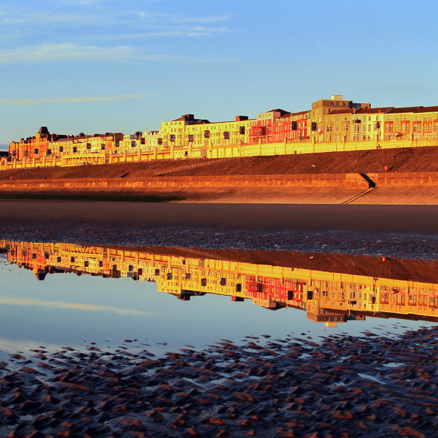 """Blackpool North Shore Reflection"" stock image"