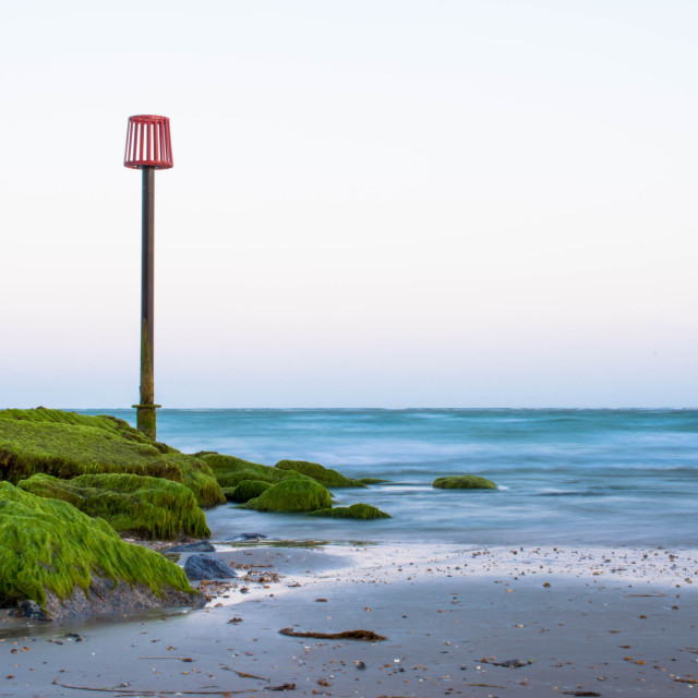 """Hayling island beach"" stock image"