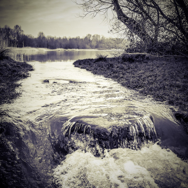 """Irthlingborough lakes floods"" stock image"