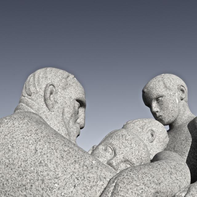 """""""Sculpture in vigelandsparken oslo"""" stock image"""