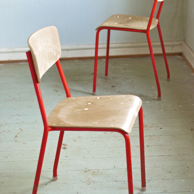 """""""Two red chairs"""" stock image"""