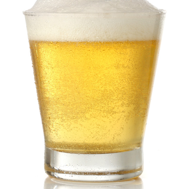 """Cold beer glass"" stock image"