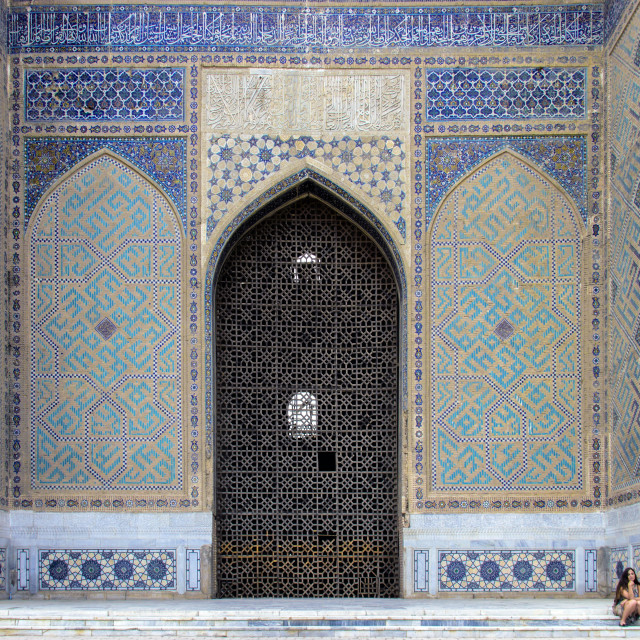 """The Bibi-Khanym Mosque in Samarkand, Uzbekistan"" stock image"