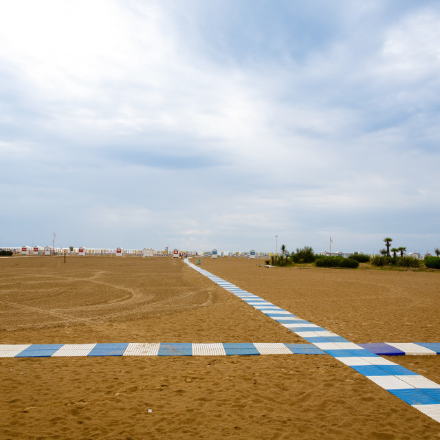 """""""Footway to empty beach"""" stock image"""