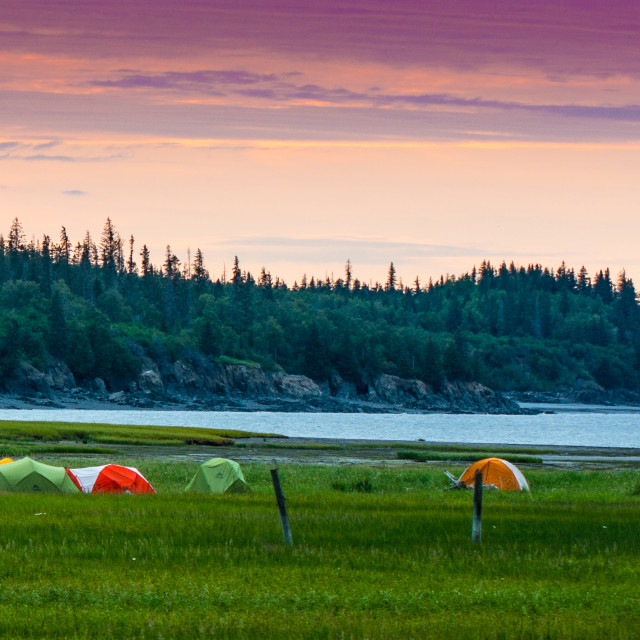 """Tents in Hope, Alaska"" stock image"