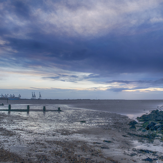 """Harwich Beach at Sunrise"" stock image"