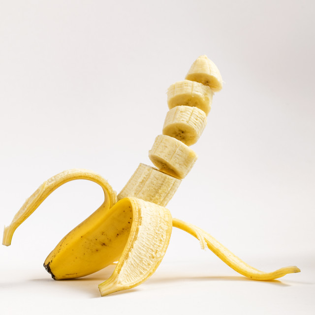 """Sliced Banana"" stock image"