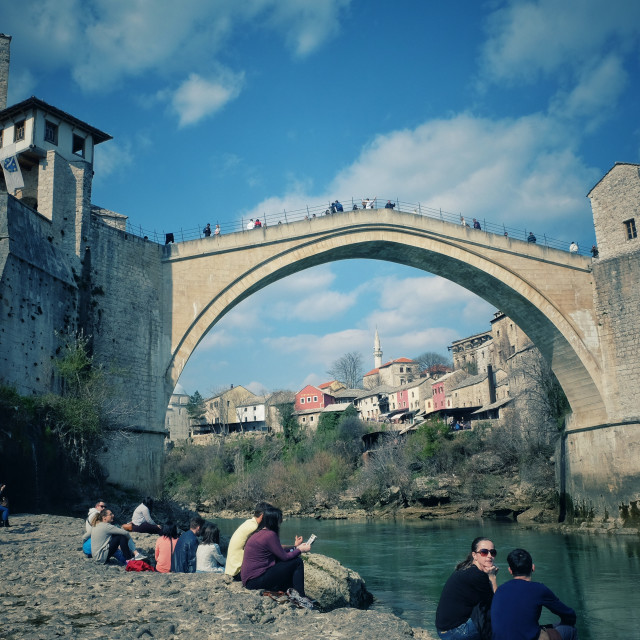 """The Mostar Bridge"" stock image"