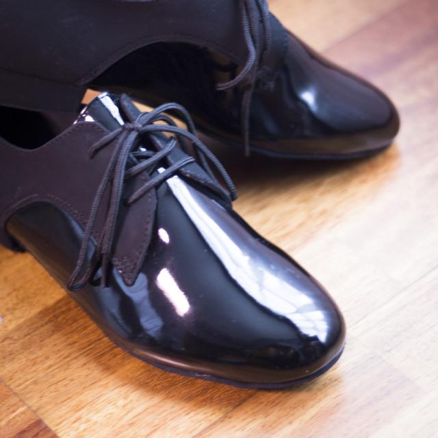 """Ballroom dance latin shoes"" stock image"