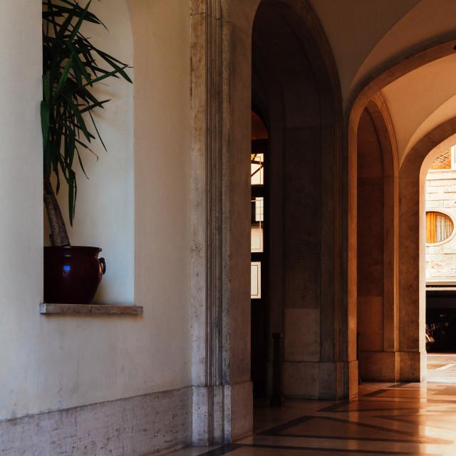 """Italian street alley archway"" stock image"