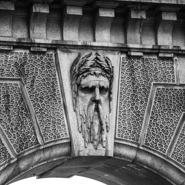 """""""Face in the Arch"""" stock image"""