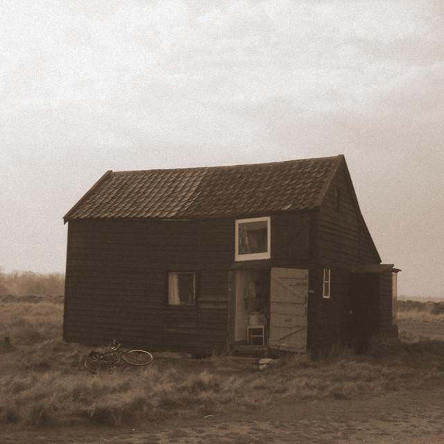 """Hut on the beach"" stock image"
