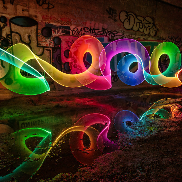"""Jarrow Light Painting"" stock image"
