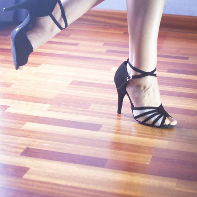 """Ballroom dance latin dancer"" stock image"