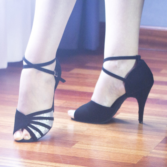 """Ballroom dance latin dancers"" stock image"