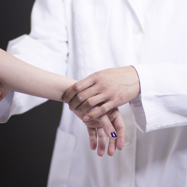 """""""Doctor patient medical examination"""" stock image"""