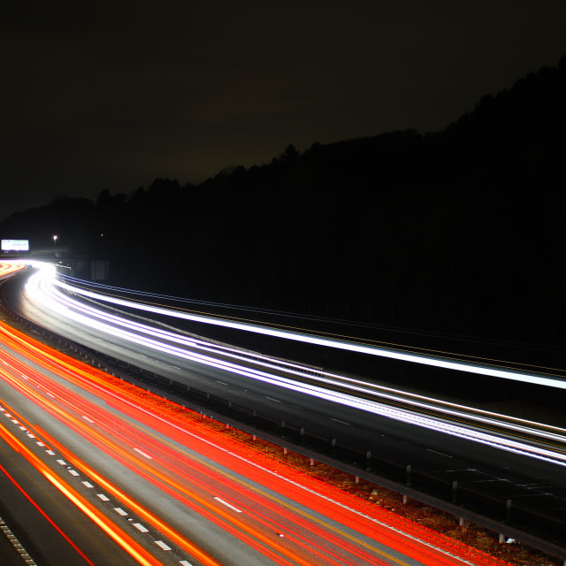 """Car Light Trails"" stock image"
