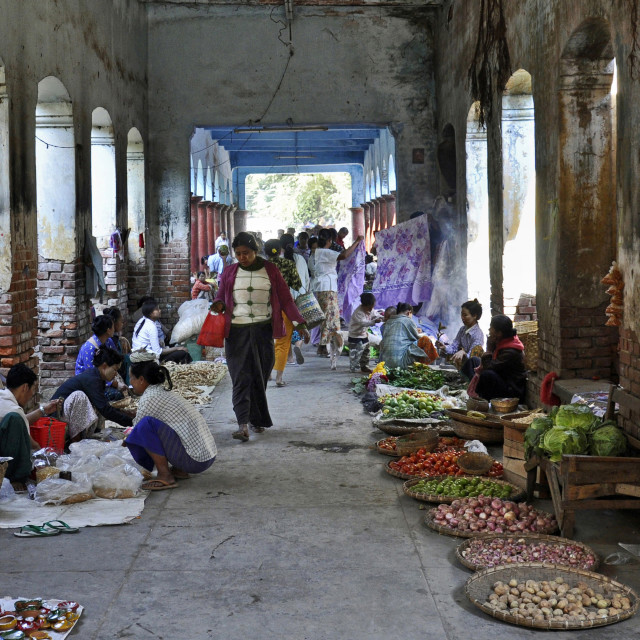 """MANDALAY MARKET"" stock image"