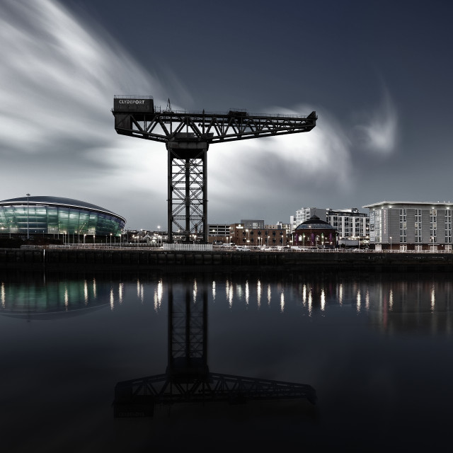 """Glasgow City Skyline"" stock image"