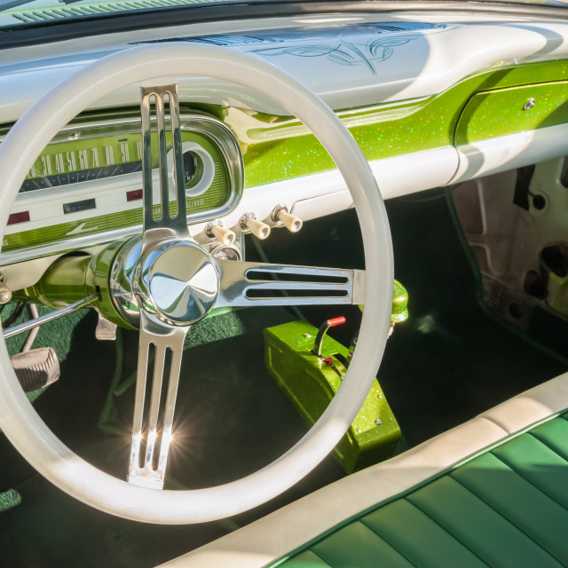 """retro vehicle interior"" stock image"